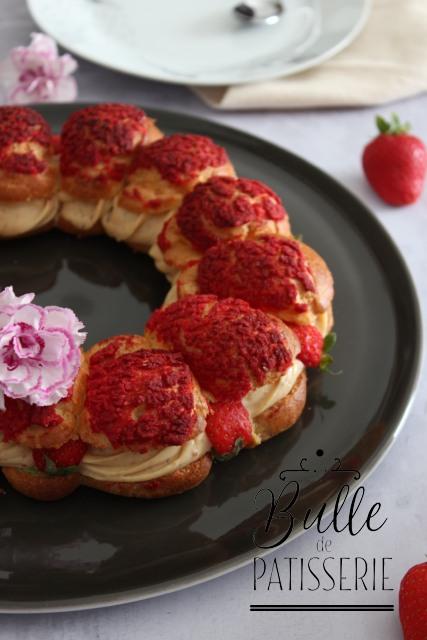 Dessert maison : Paris-Brest revisité à la Fraise et au Praliné