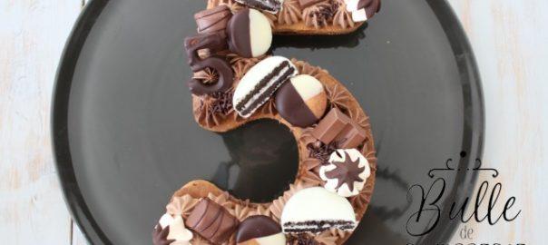Recette d'anniversaire : number cake aux 2 chocolats