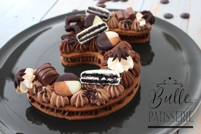 Dessert d'anniversaire : Number Cake Chocolat Noir & Chocolat au lait