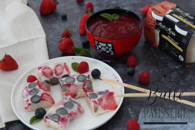Recette estivale : rouleaux de printemps sucrés et coulis de fruits rouges