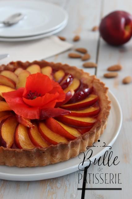 Que faire avec de la gelée de coquelicots : tarte nectarine-coquelicot-amande