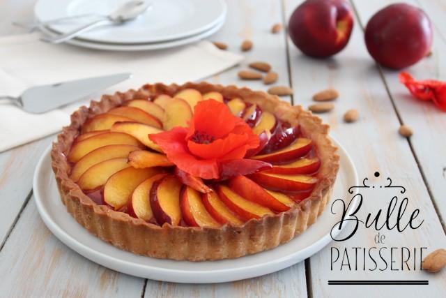 Dessert d'été : tarte facile nectarine-coquelicot-amande