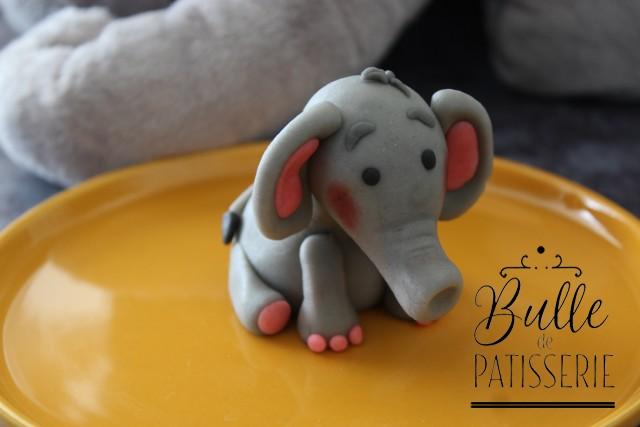Tutoriel Animal en pâte à sucre/pâte d'amande : l'éléphant