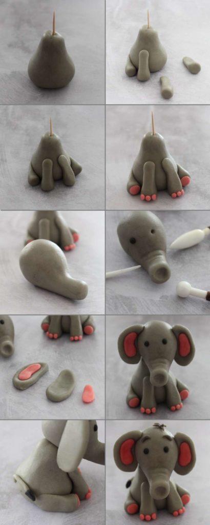 Tuto : l'éléphant en pâte à sucre en pas à pas