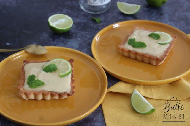 Tarte Mojito (Citron Vert – Menthe – Rhum)
