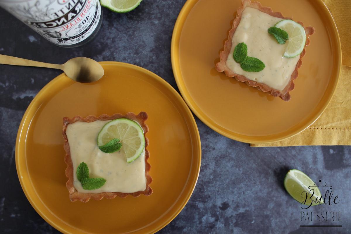Tarte Citron Vert - Menthe - Rhum