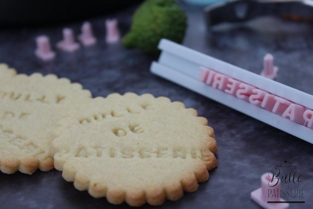 Recette des biscuits sablés avec message