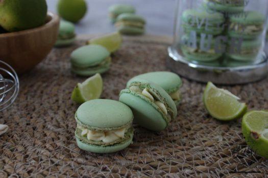 Macarons fraîcheur : ganache au citron et au gingembre
