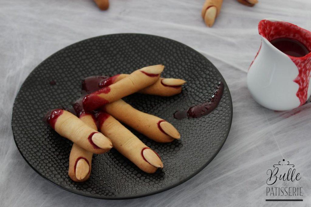 Biscuits d'Halloween : doigts de sorcière