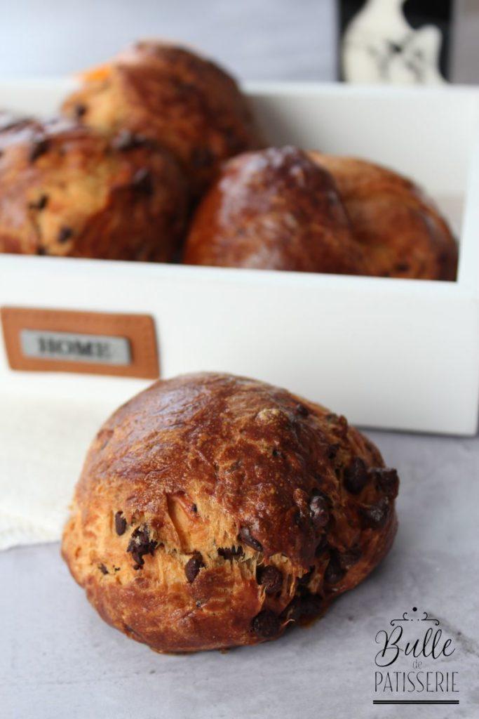 Recette pour le petit-déjeuner : brioches aux pépites de chocolat