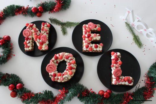 Letter Cake de Noël avec Scrapcooking