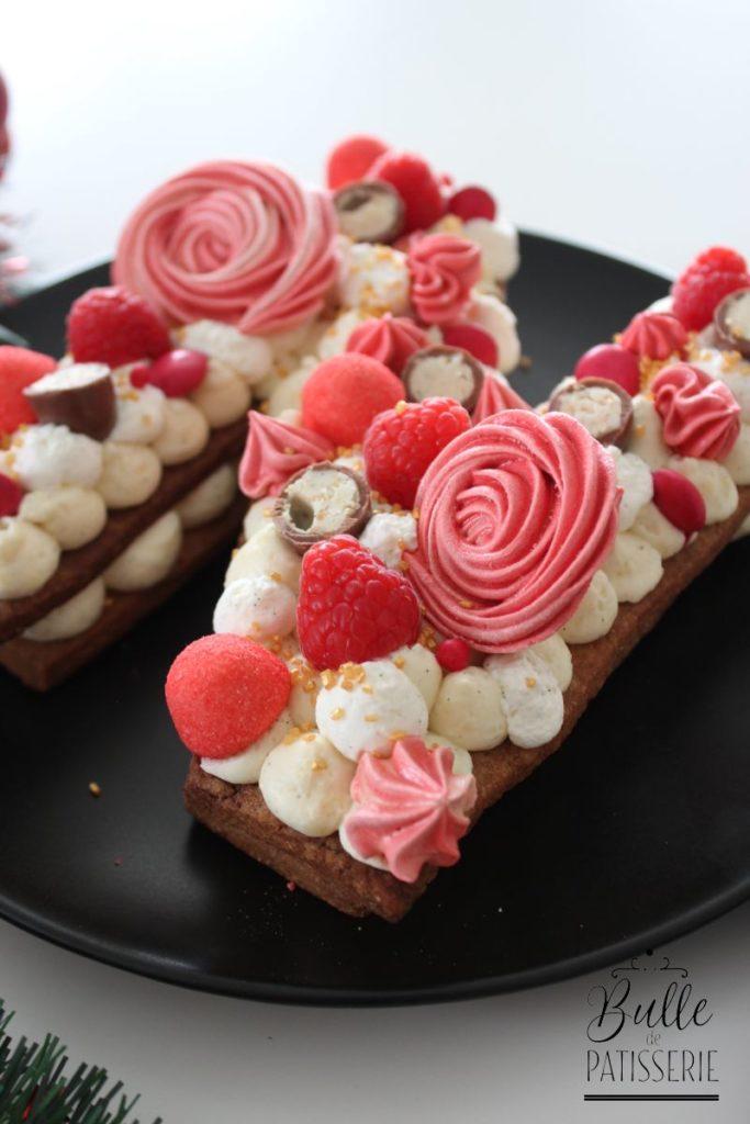 Recette de Noël : Letter Cake Pain d'épices-Vanille-Framboises