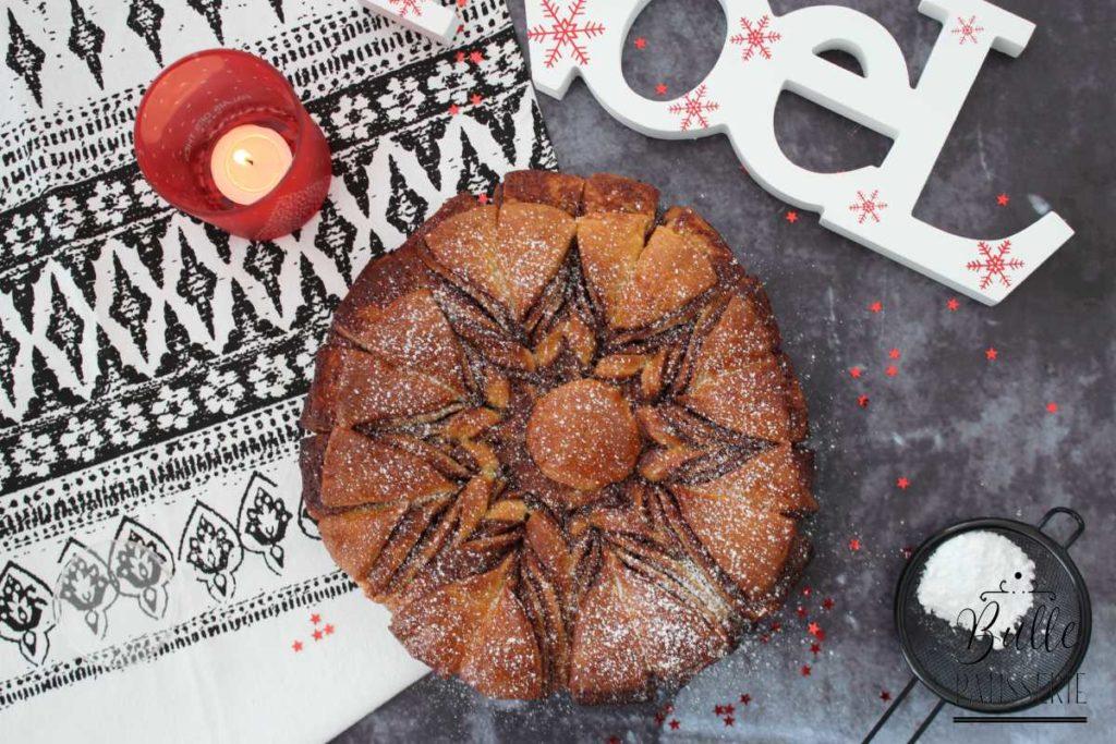 Brioche au Nutella en étoile pour Noël