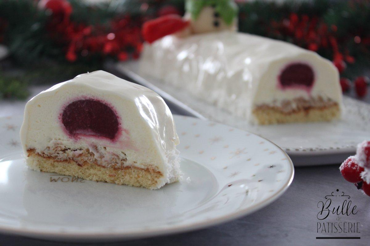 Recette de Noël : bûche chocolat blanc-framboise