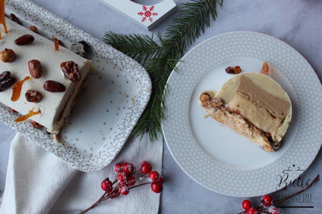 Recette de Noël : bûche glacée Café, Caramel, Vanille