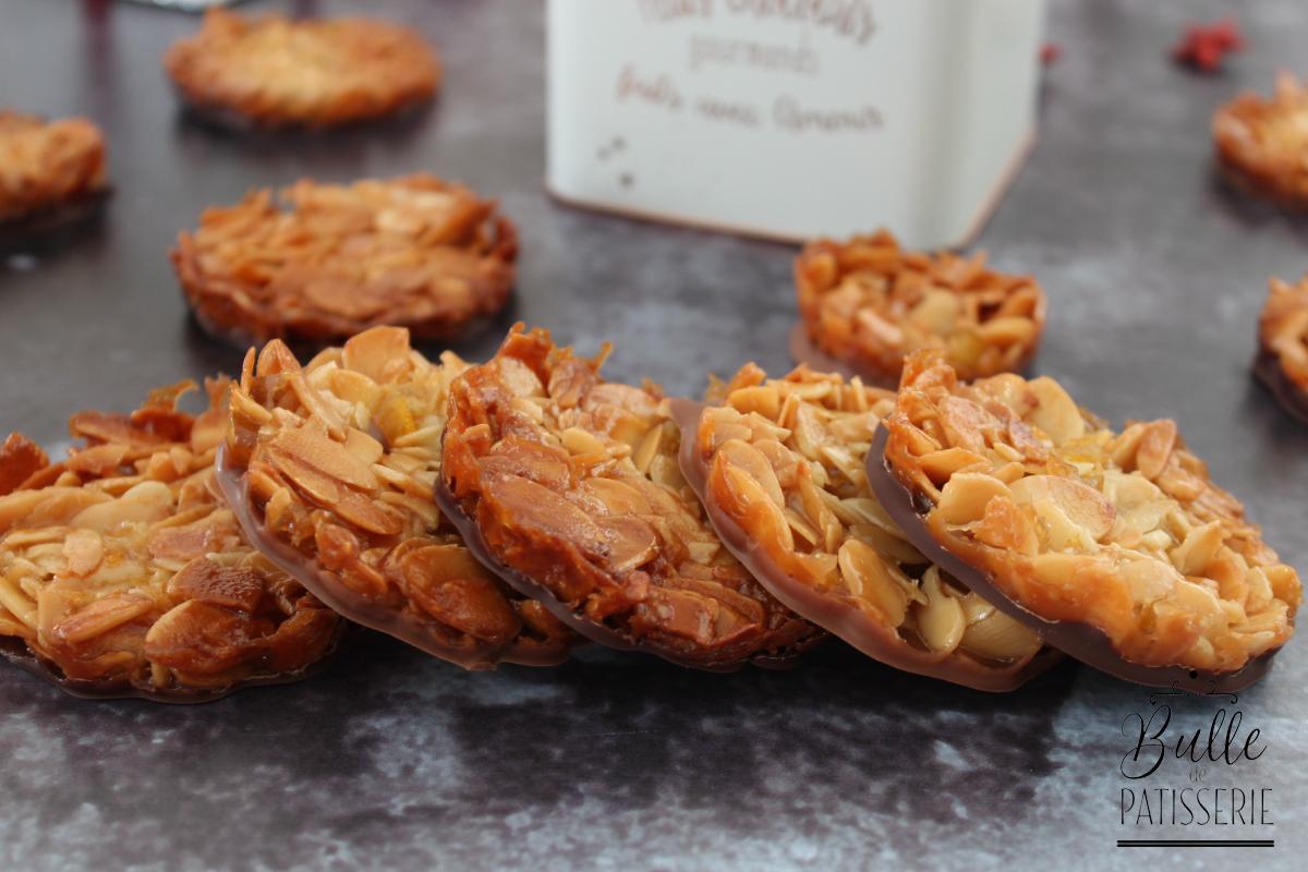 Florentins Amandes et Chocolat, avec écorces d'oranges confites
