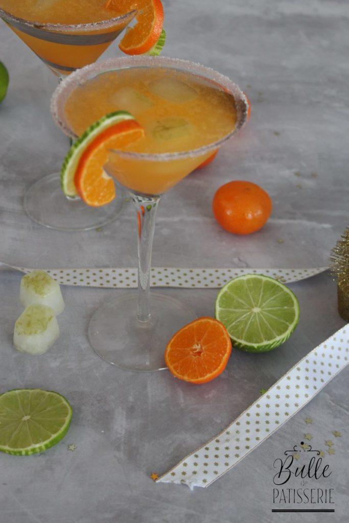 Cocktail sans alcool : mocktail pétillant à la clémentine