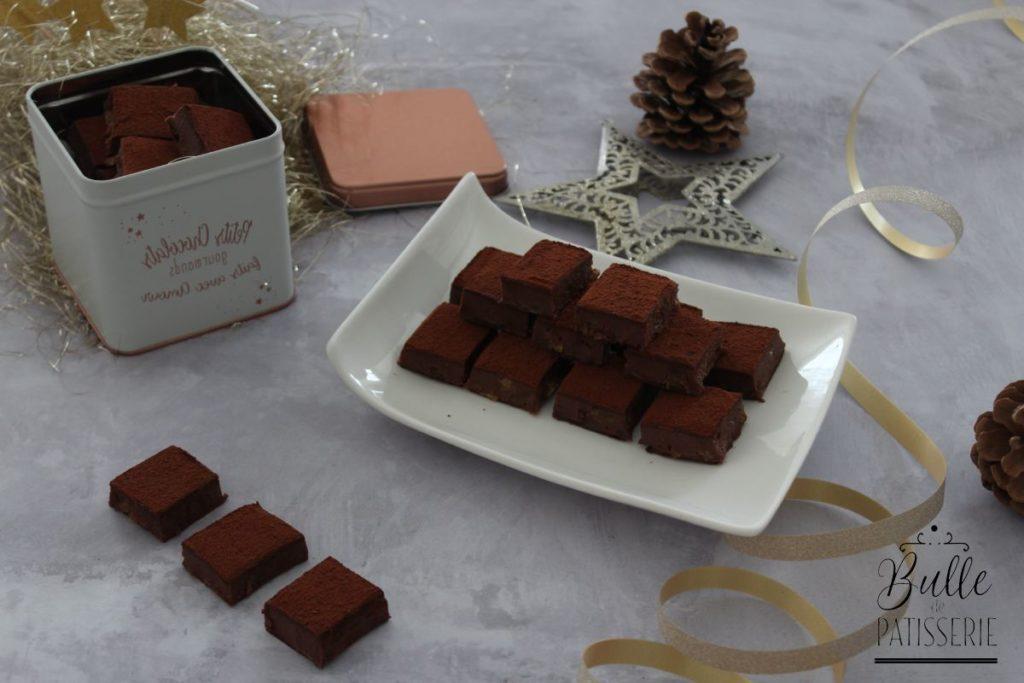 Recette Chocolats de Noël Express : Rhum-Raisin