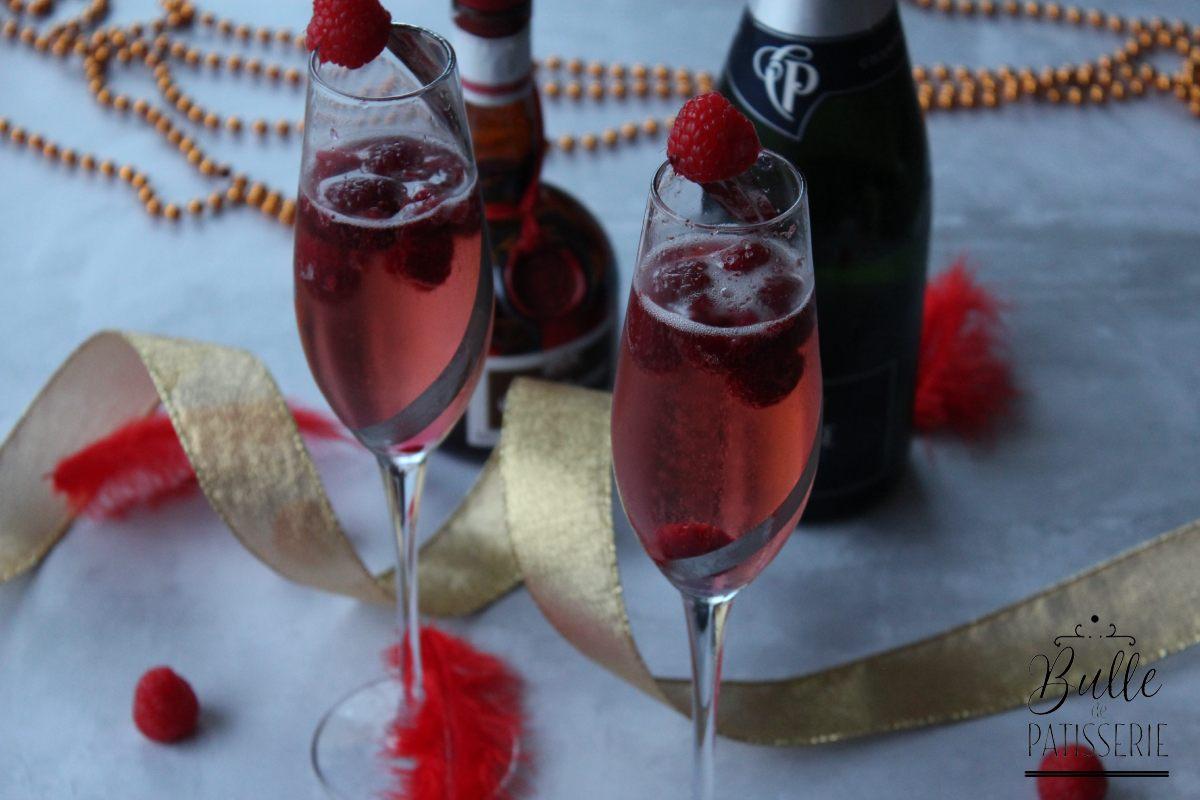 Cocktail de fêtes : soupe champenoise aux framboises