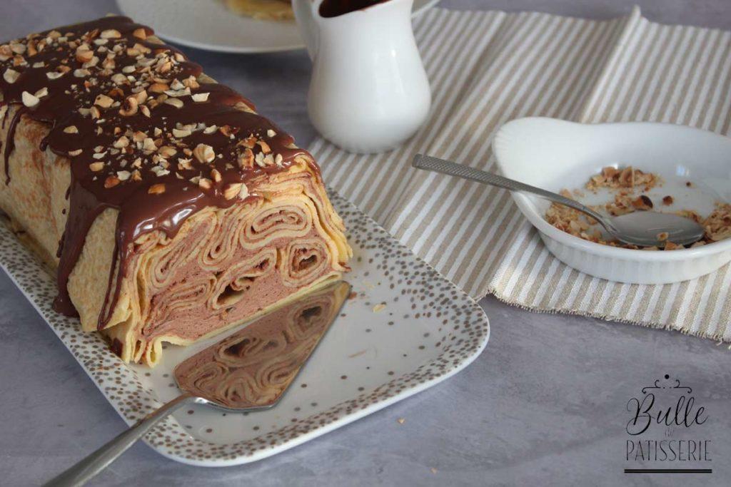 Cake de Crêpes au chocolat pour la Chandeleur