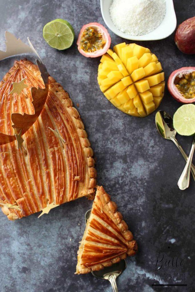 Galette des Rois Exotique avec frangipane à la noix de coco et mangue
