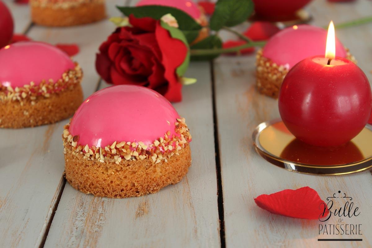 Dessert Saint Valentin : entremets Framboise-Chocolat