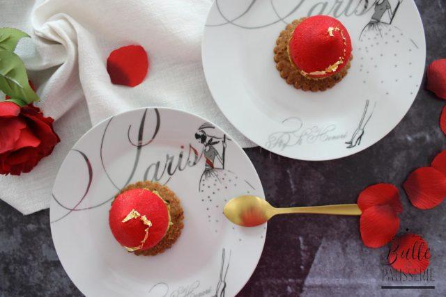 Entremets Rose-Framboise-Pistache