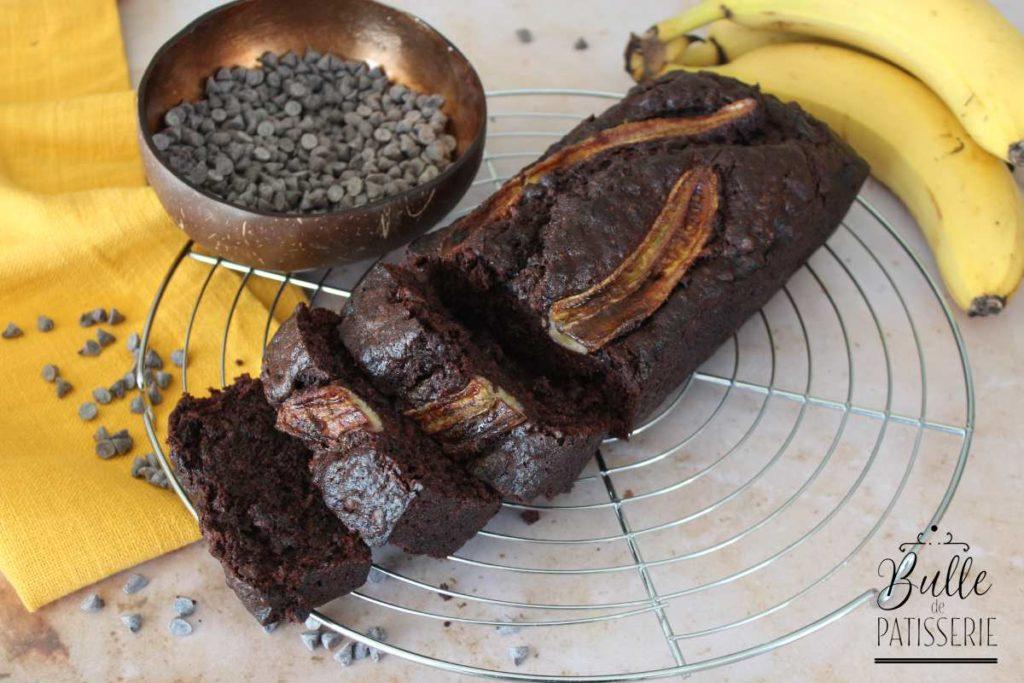 A l'heure du goûter : banana bread au chocolat