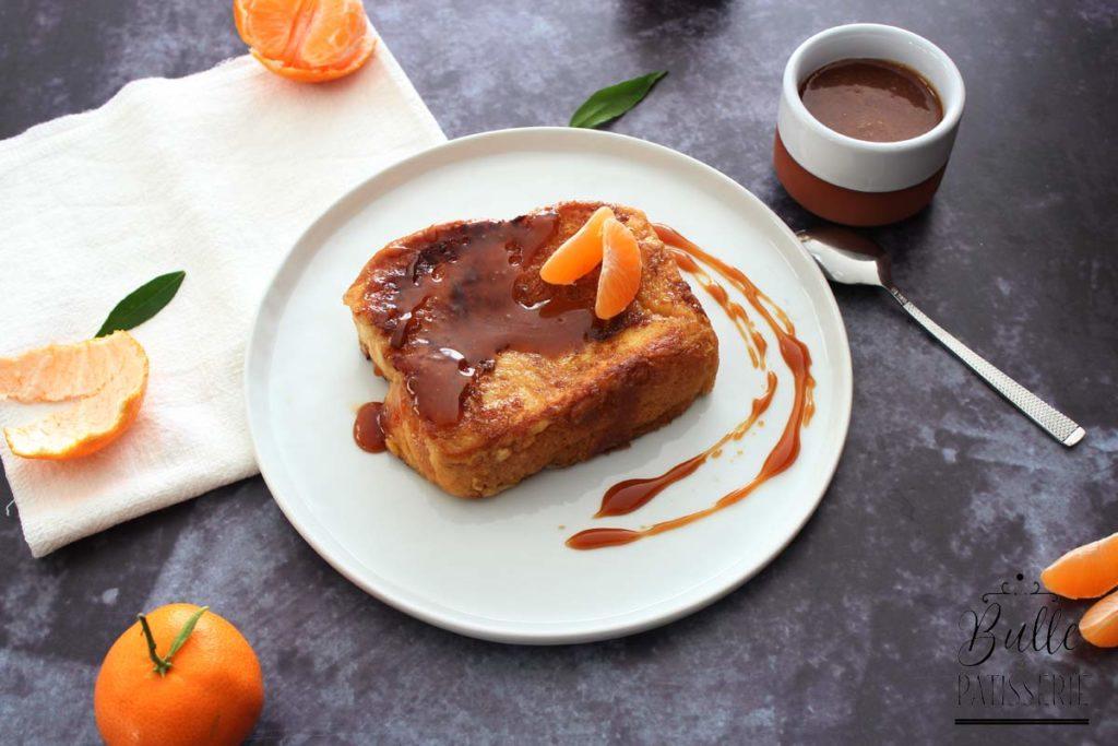 Recette pour le goûter : brioche façon pain perdu et caramel à la clémentine