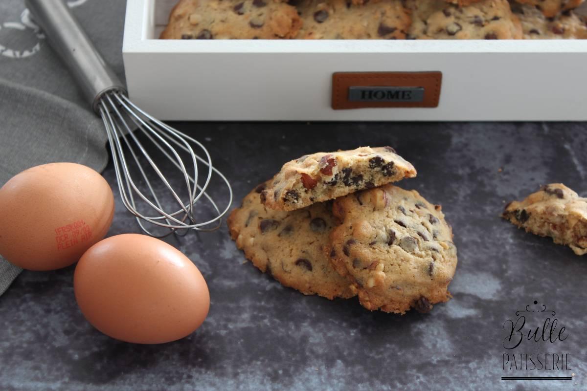 Recette pour le goûter : cookies Chocolat et Noisettes
