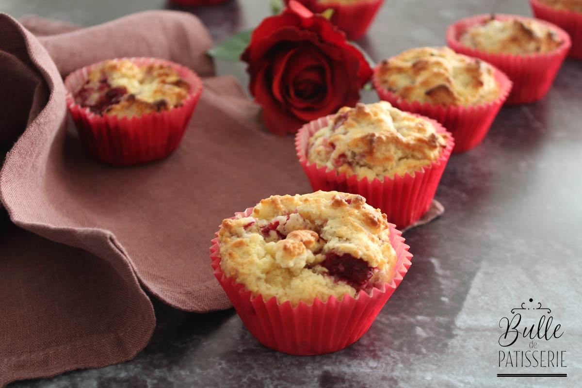 Recette facile : muffins aux framboises et pépites de chocolat blanc