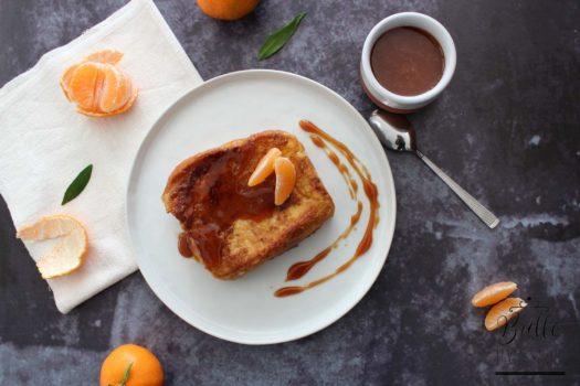 Recette gourmande : brioche perdue accompagnée de son caramel à la clémentine