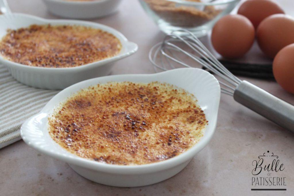 Recette de crème maison : crème brûlée vanille