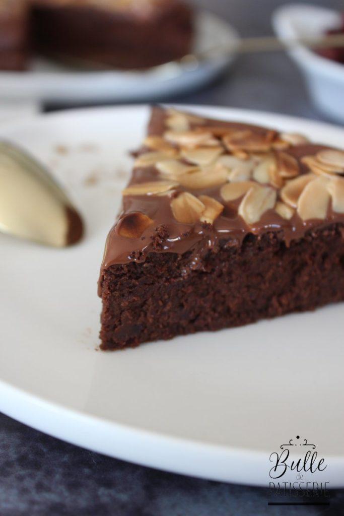 Gâteau sans œufs : fondant chocolat-haricots rouges