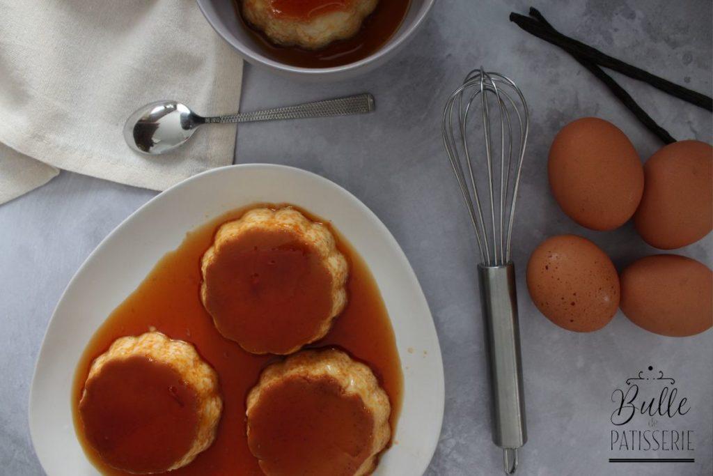 Recette des œufs au lait - cuisson au bain-marie au four