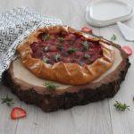 Tarte facile : tarte rustique Fraise-Romarin