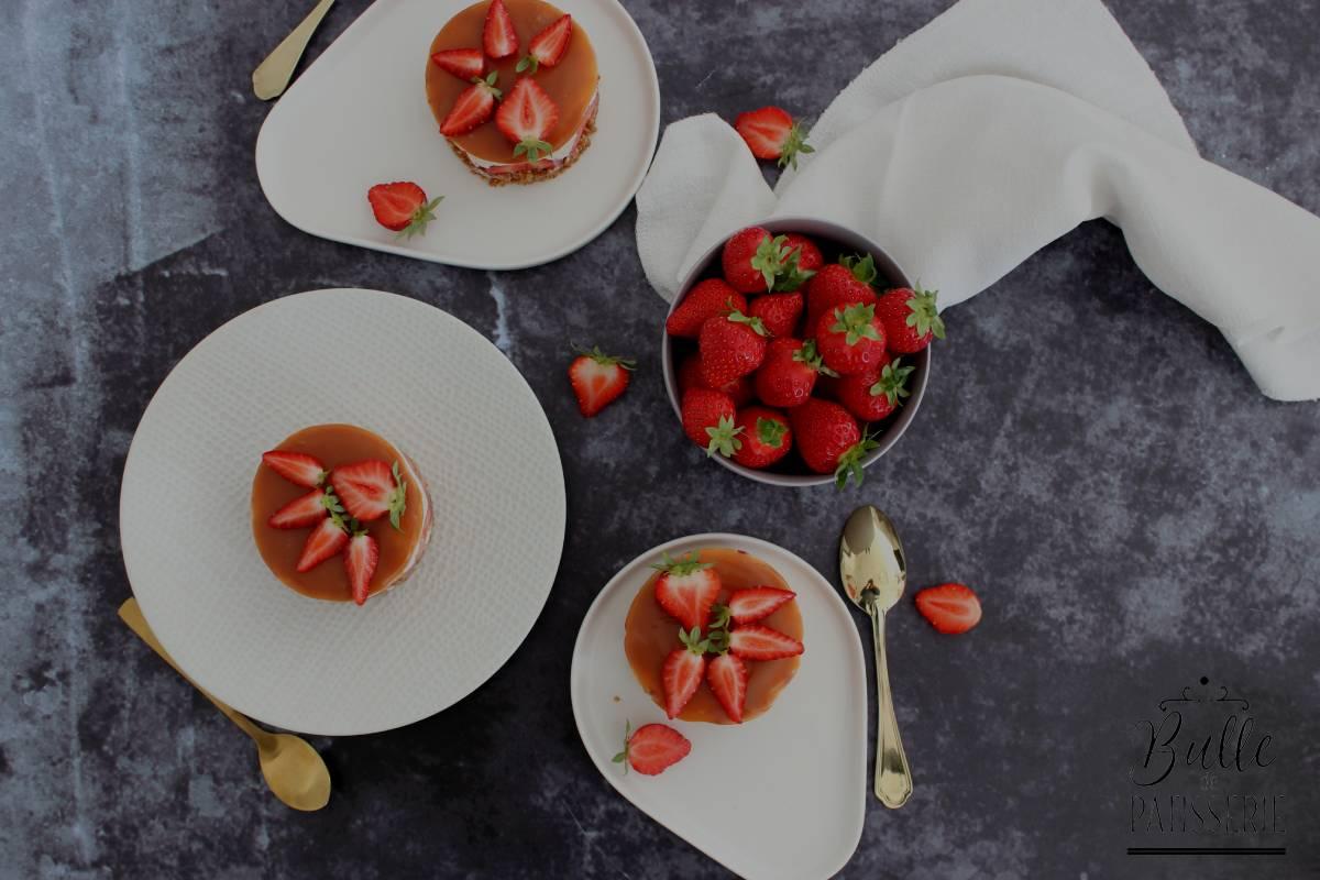 Recette facile : cheesecake sans cuisson façon fraisier