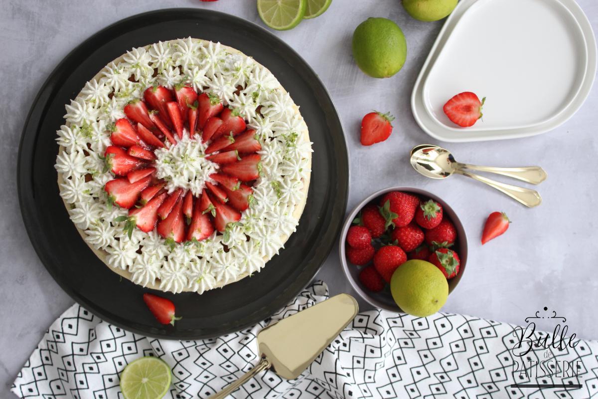 Recette de dessert : le fraisier au citron vert