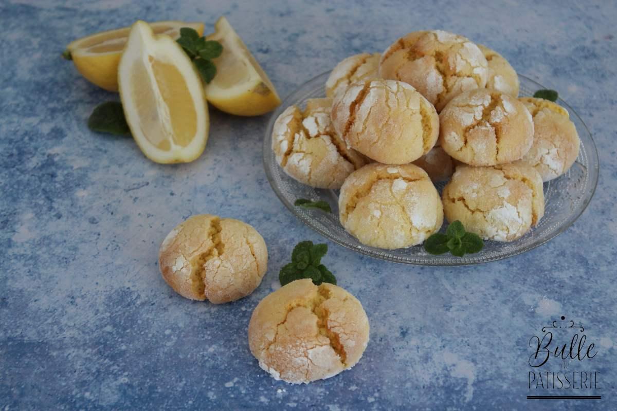 Petits biscuits au citron : lemon crinkles