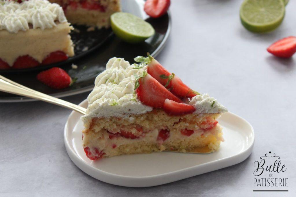 Recette de gâteau : le fraisier et sa pointe de citron vert