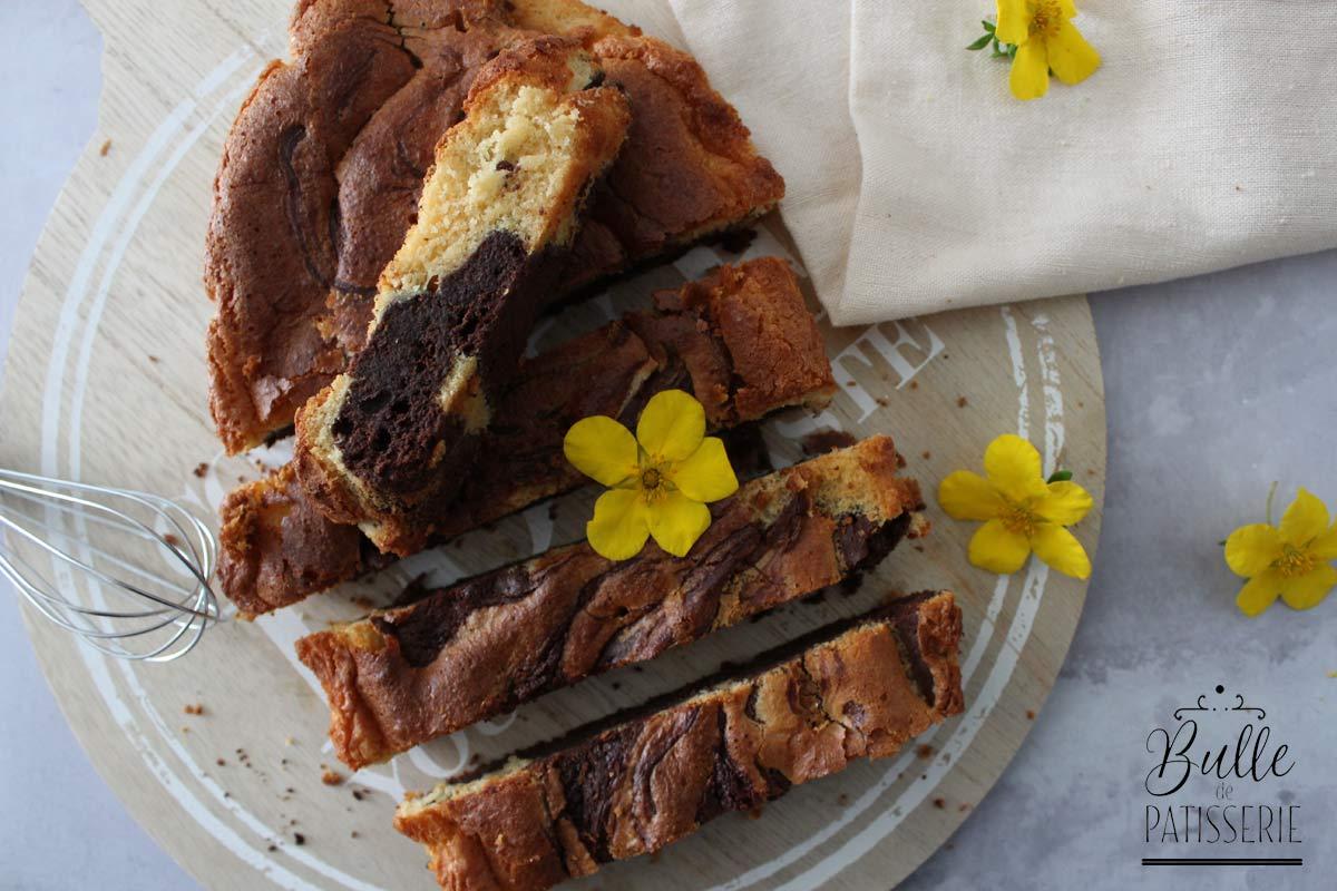 Recette facile et gourmande : brownie marbré aux 2 chocolats