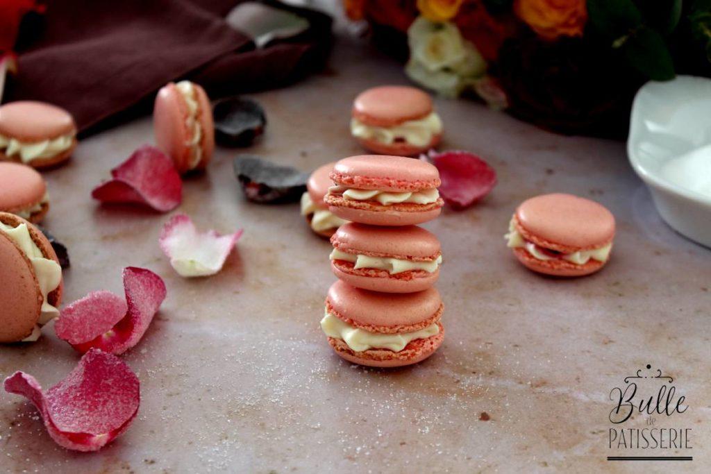 Macarons pour la Fête des Mères Rose-Framboise