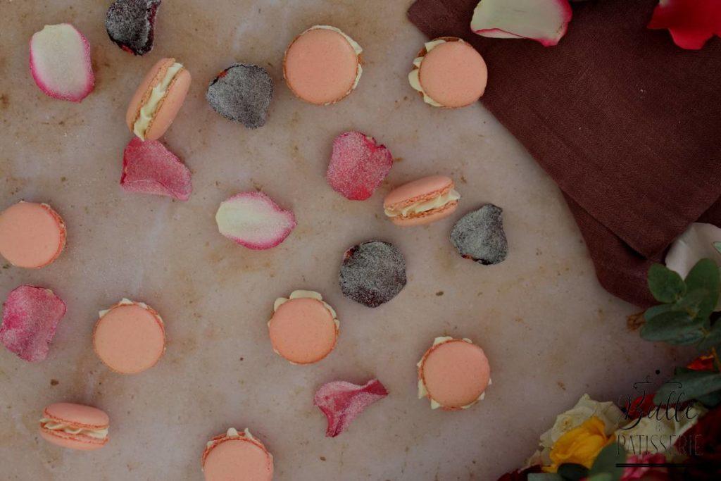 Recette de macarons : Rose et Framboise