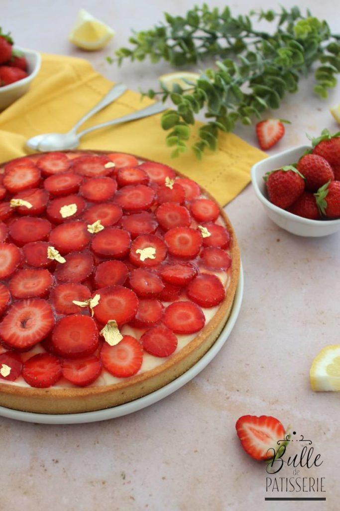 Tarte maison citron-fraises