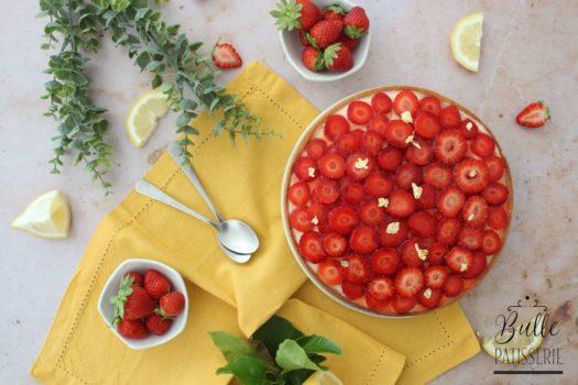 Tarte gourmande : Fraises et Citron