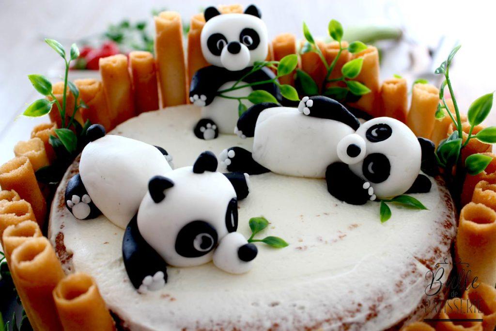 Gâteau d'anniversaire Panda Fraise-Rhubarbe