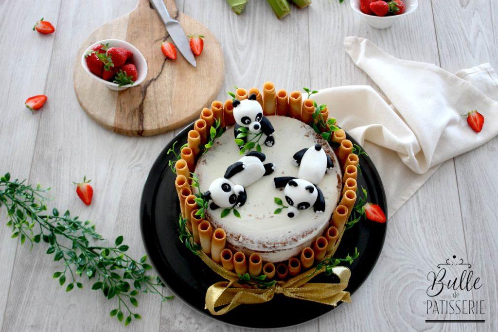 Déco Panda pour gâteau d'anniversaire enfant