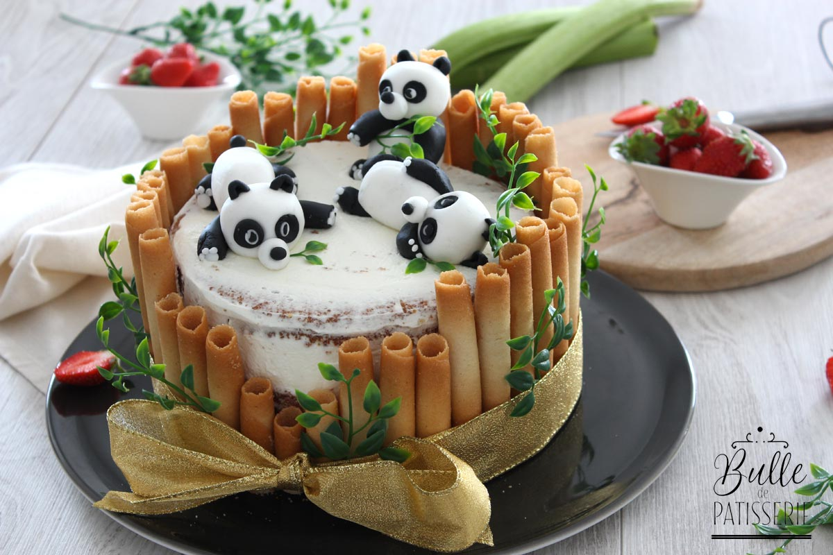 Recette Gateau D Anniversaire Enfant Panda Fraise Rhubarbe