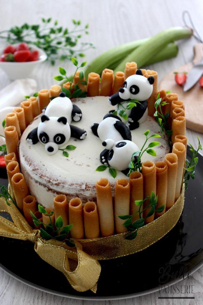 Idée gâteau d'anniversaire pour enfant : décoration panda