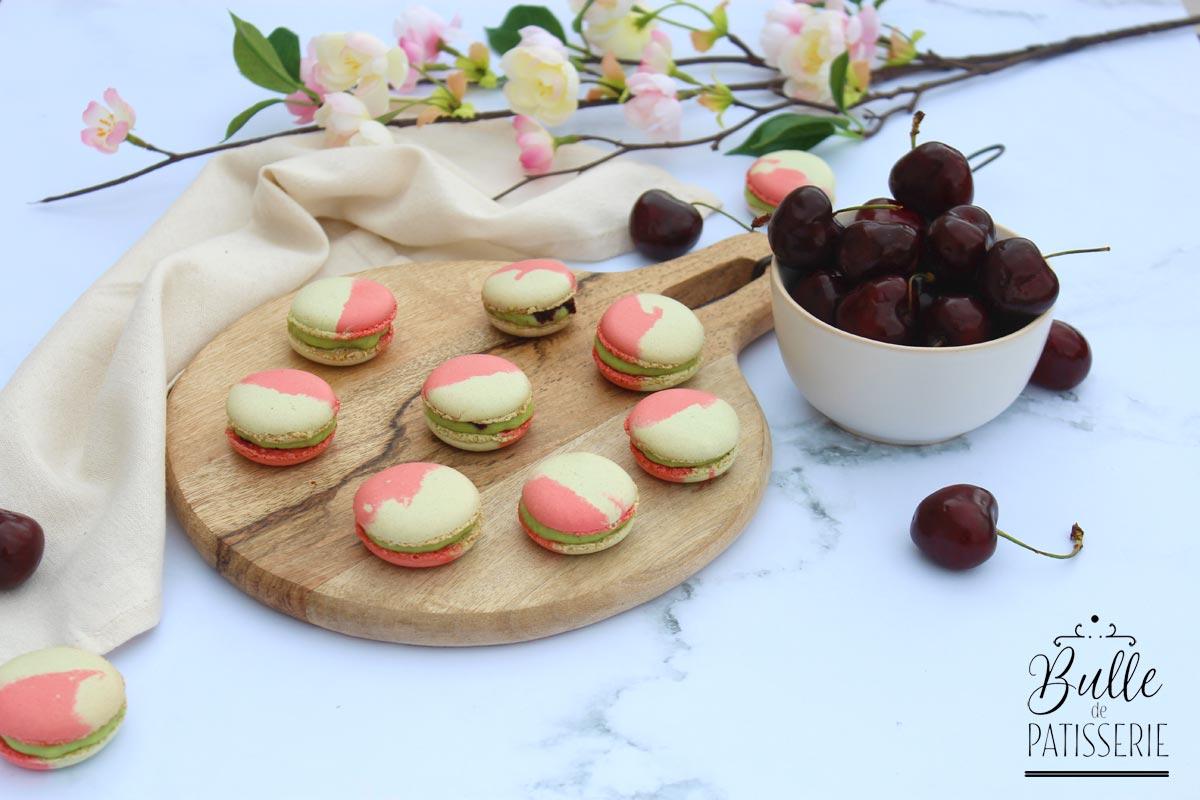 Macarons Maison : parfums pistache & cerise